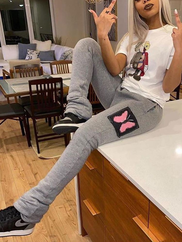 sports stacked pants