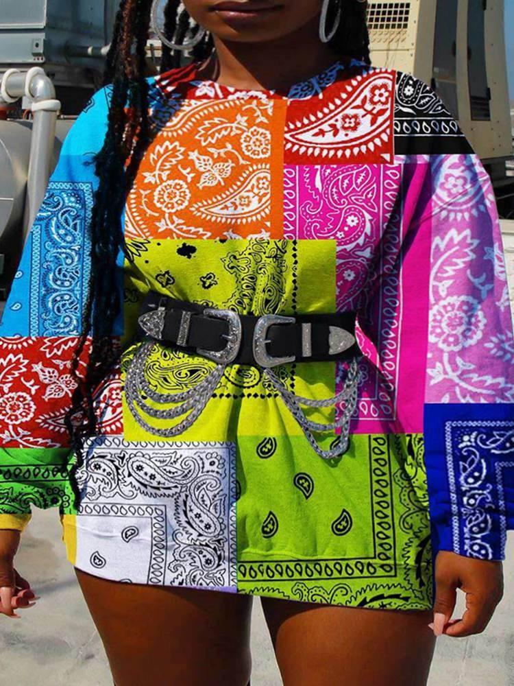 Paisley pattern sweatshirt