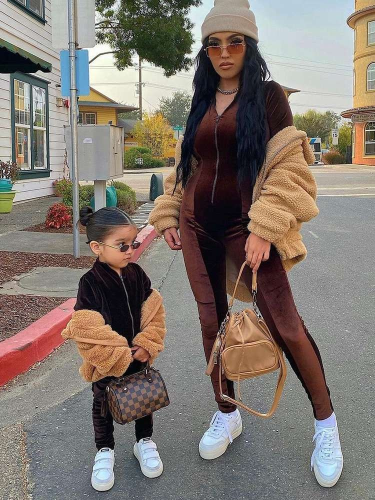 long sleeve jumpsuit with coat