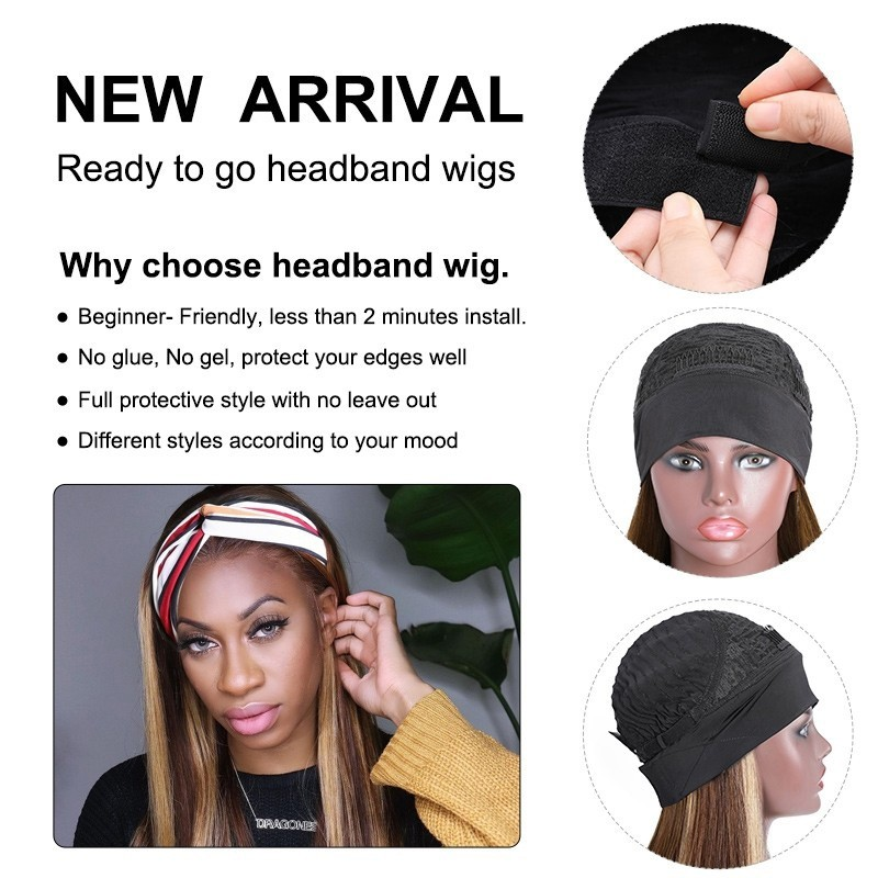 feature of the headband wig