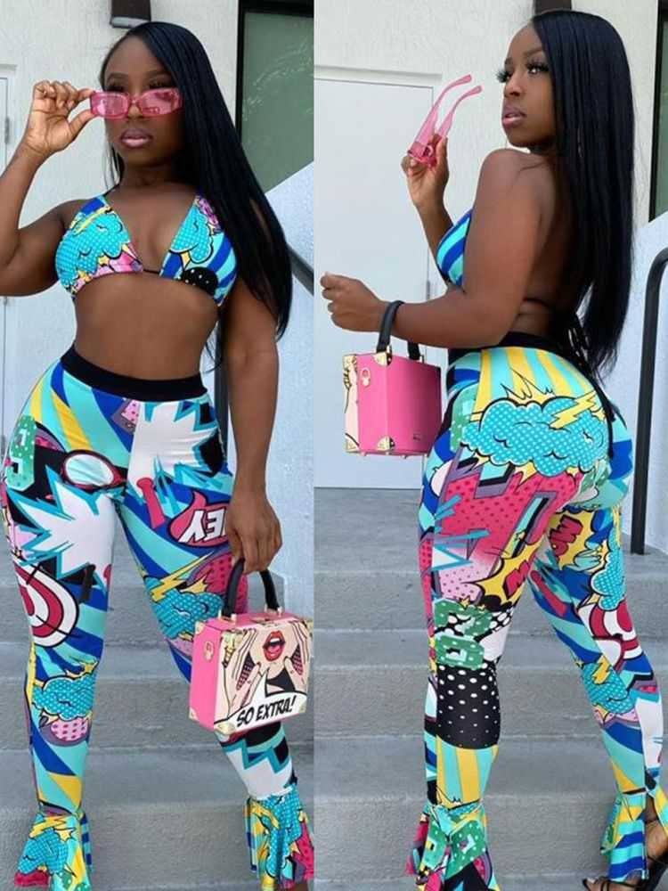Bra Top With Pants Set