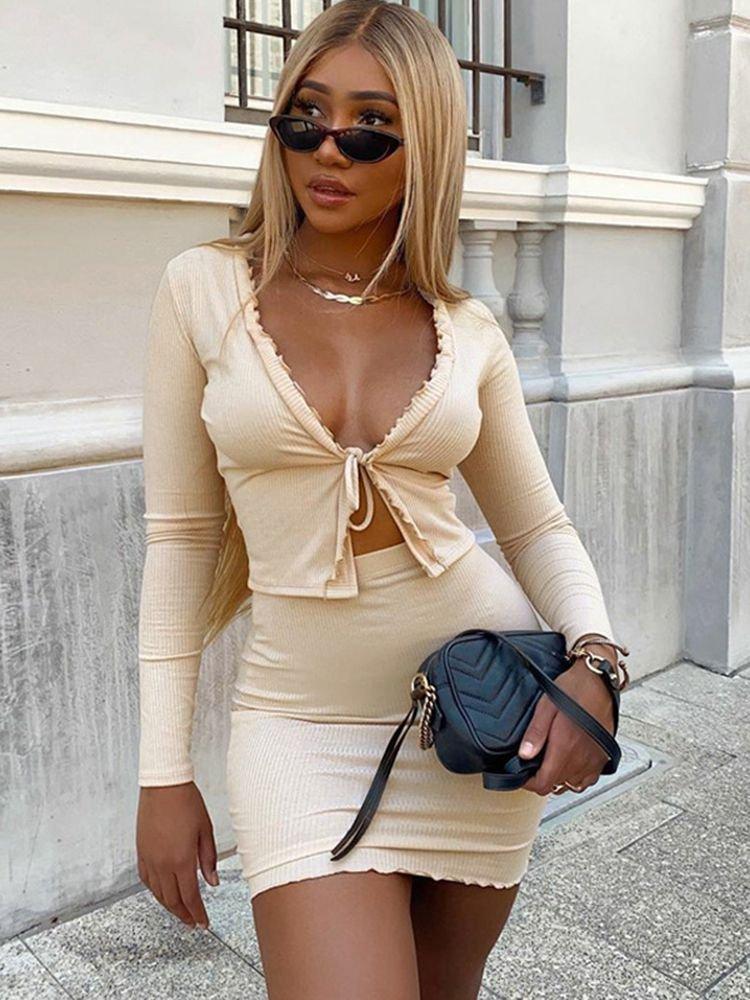matching skirt and top set