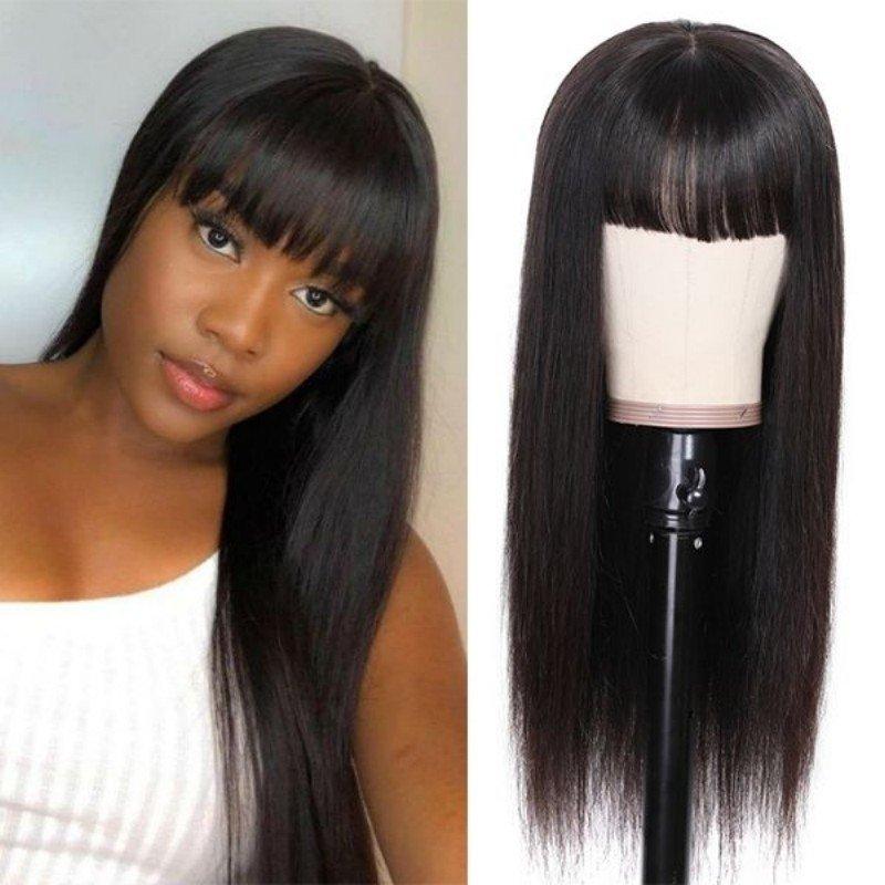 full machine wig with bangs