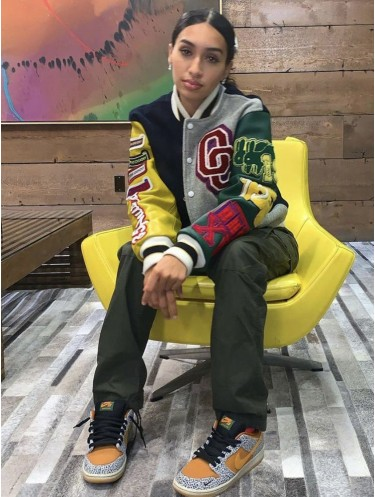 Jurllyshe Color Matching Letter Long Sleeve Button Baseball Fashion Casual Coat Jacket