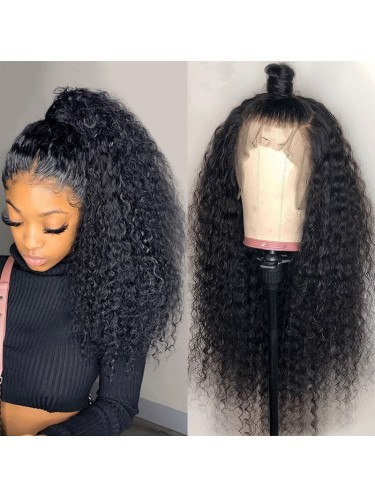 150% Density 13X6 Lace Frontal Wig Jerry Curly Lace Front Human Hair Wigs