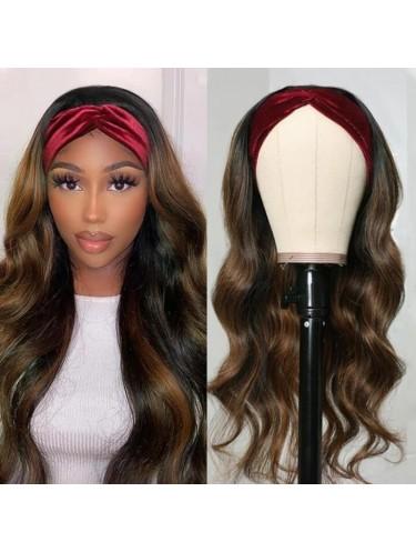 Ombre Highlight Body Wave Headband Wig Human Hair FB30 Color