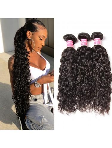 Jurllyshe Human Virgin Hair 3 Bundles Water Wave Virgin Human Hair