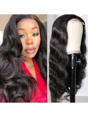 Jurllyshe Body Wave Lace Part Closure Wig for Women 150% Density Hand Tied