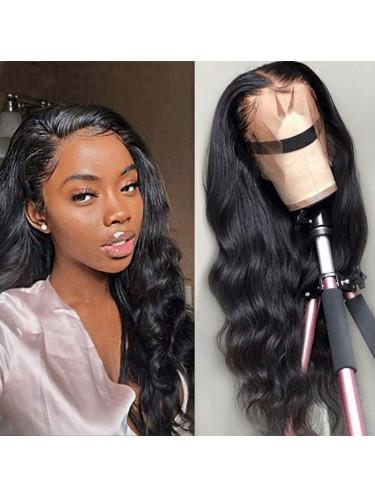 Jurllyshe 130% Density 13*4 Lace Front  Body Wave Human Hair Wigs