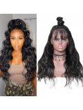 Jurllyshe 180% Density Full Lace Front Long Body Wave Human Hair Wig