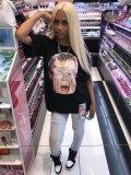 Jurllyshe Fashion Kid Scream Dollar Print Casual Shirt