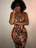 Jurllyshe Camouflage Slim Cami Dress