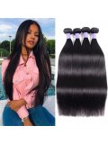 Hurela Series 4PcsPack Straight Virgin Human Hair Wave Bundles
