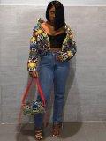 Jurllyshe Fashion Print And Dye Camouflage Bread Cotton-Padded Jacket