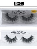 3D Handmade Mink Hair Natural Thick False Eyelashes