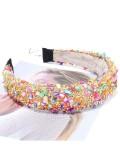 Colorful Natural Crystal Stone Retro Sponge Hair Band
