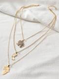 Elephant Pendant Multilayer Creative Alloy Necklace