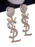 Fashion Full Diamond Letter Fashion Earrings