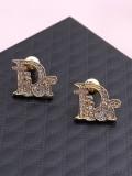 Silver Needle Letter Diamond Fashion Rhinestone Earrings