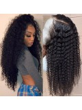Jurllyshe 180% Density 13*4 Lace Cap 100% Human Hair Jerry Curly Lace Frontal Wig