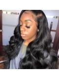 Jurllyshe 180% Lace Front Human Hair Wigs 13x4 Non-Remy Brazilian Body Wave