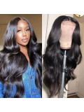 5x5 HD Lace Closure Wig Body Wave Human Hair Wigs 180% Density Pre Plucked