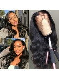 Jurllyshe 5x5 Body Wave HD Lace Closure Wig 180% Density Pre Plucked