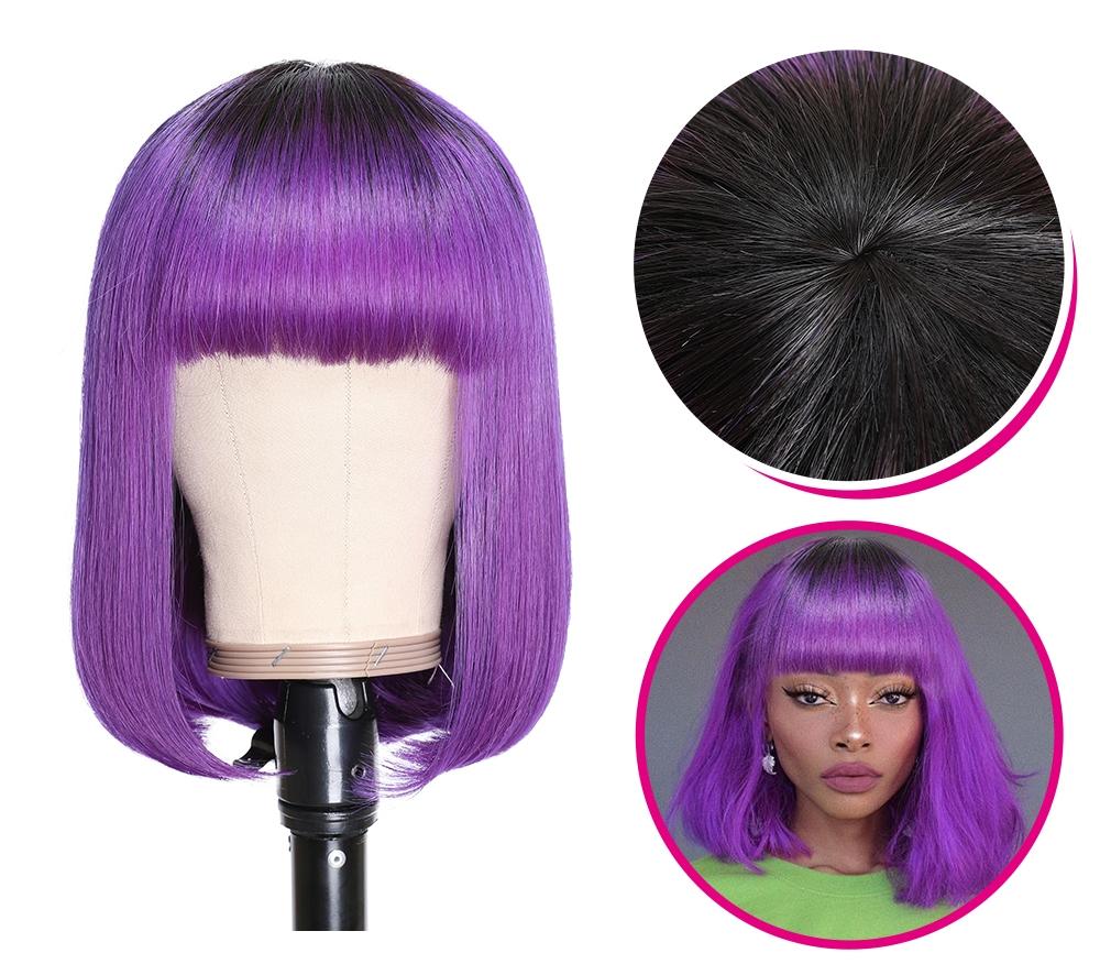 Kinky Straight Hair Half Wigs