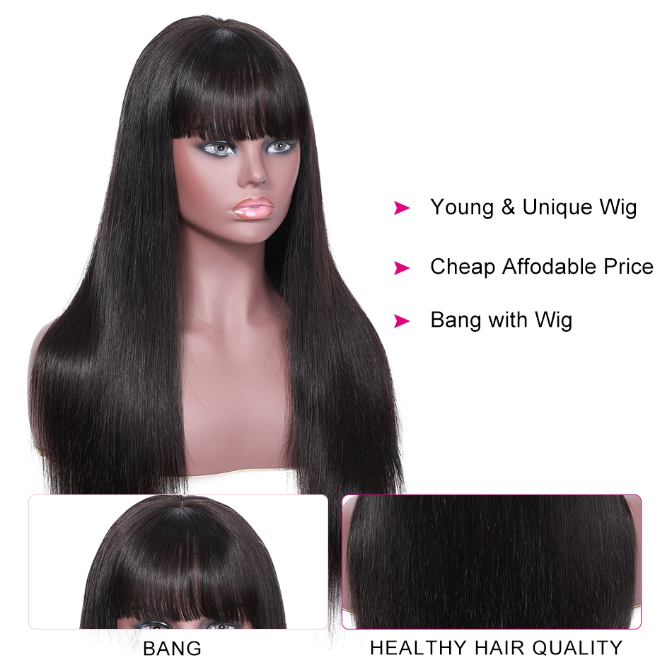 Kinky Straight Hair Half Wigs