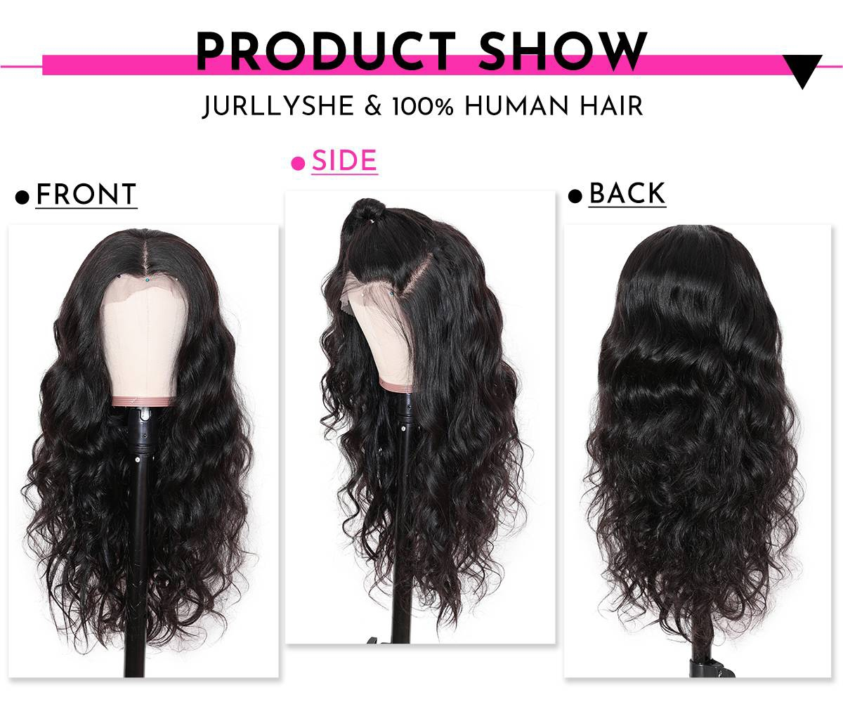 13x4 HD Transparent Wave Lace Frontal Wig