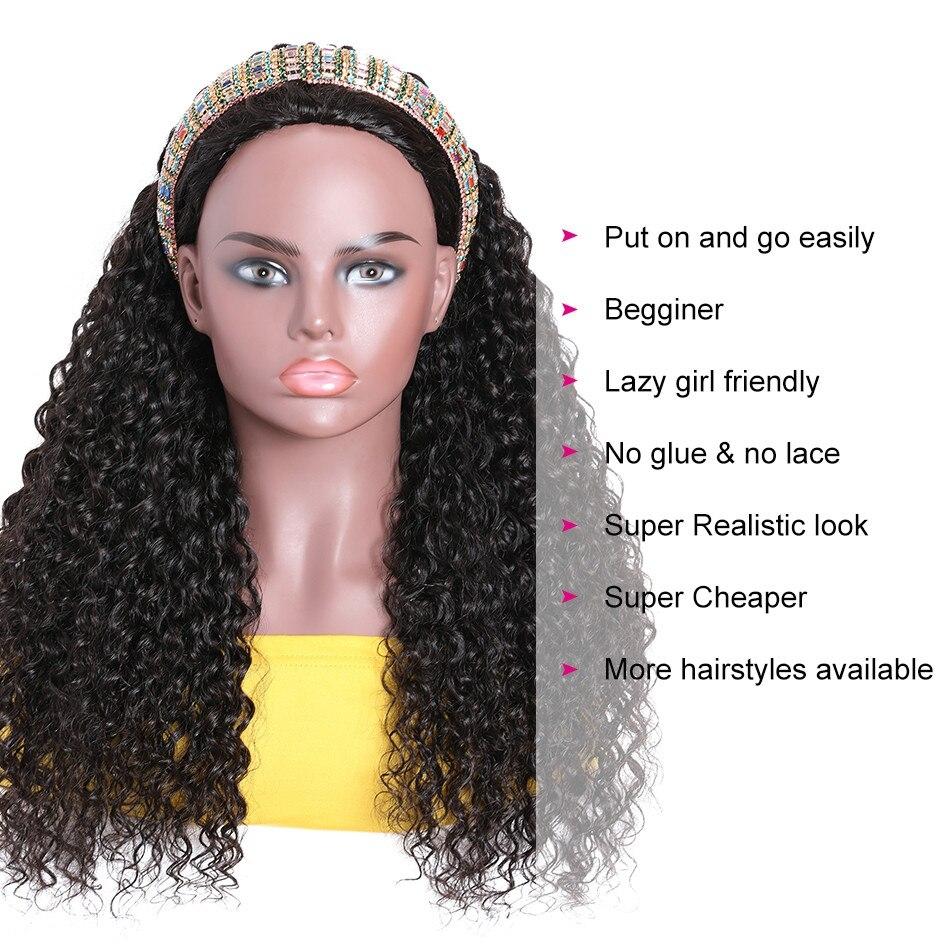 Curly Human Hair Half Wigs Glueless Wigs