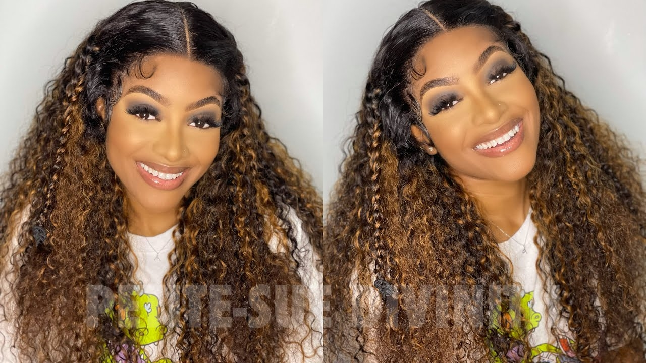 Highlights Balayage Curly Wigs