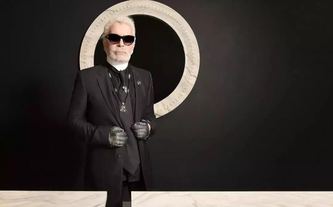 Karl Lagerfeld sharp man