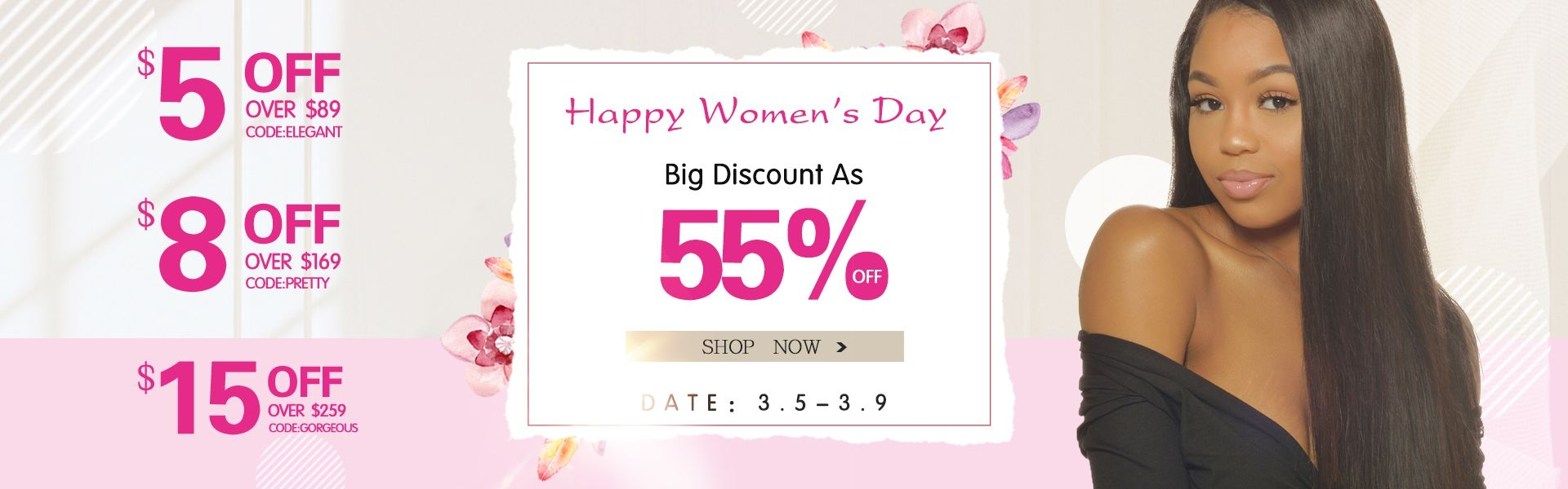africanmall womens day promotion of huamna hair clothes and bags
