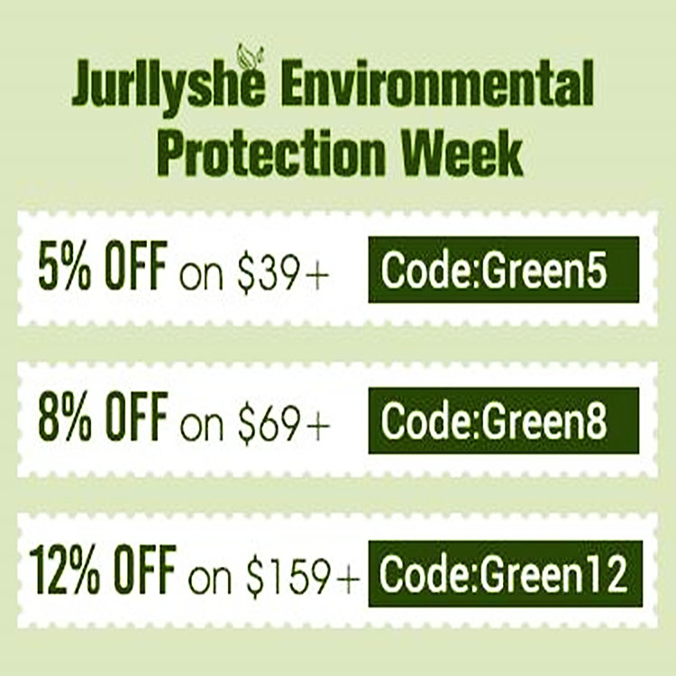 Jurllyshe Environmental Protection Week Fashion Sale
