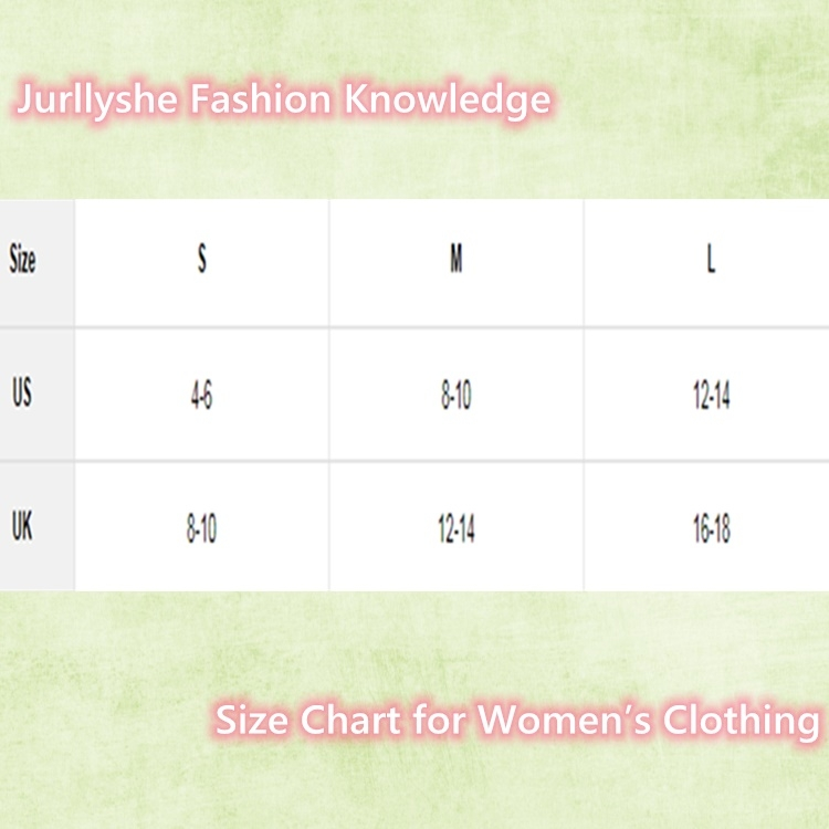 Size Chart for Women's Clothing
