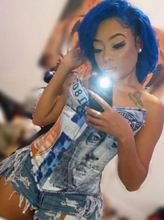 Money Print Corset Outfit