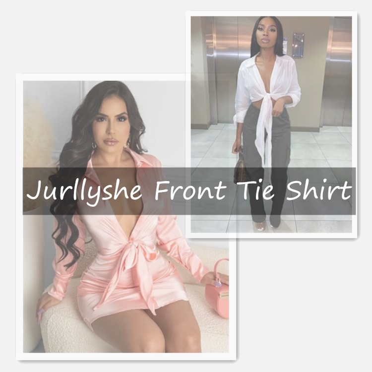 Jurllyshe Front Tie Shirt Gives You a Fashionable Summer