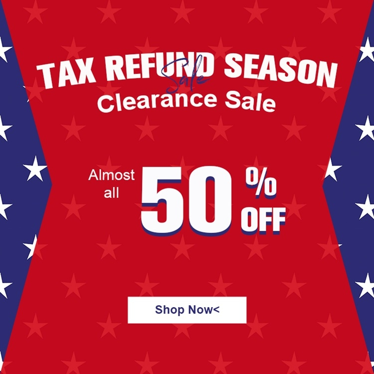 Jurllyshe Tax Refund Season Sale