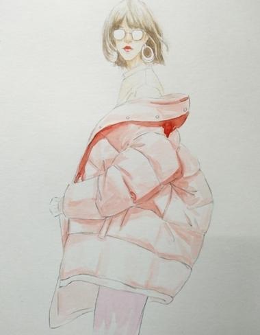 puffer jacket sketch