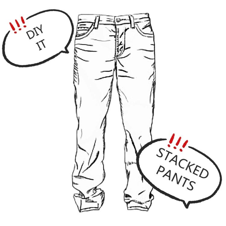 DIY Stacked Pants