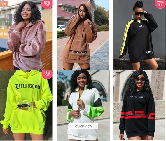 africanmall oversized hoodies for women