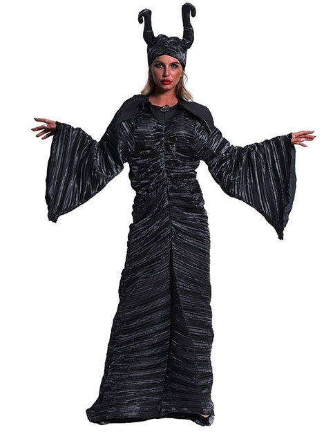 JurllyShe Halloween Slumber Spell Dark Witch Role-Playing Costume