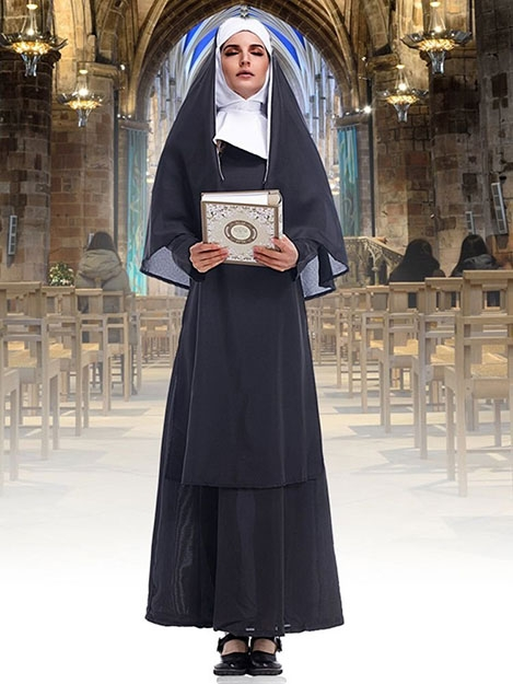 Halloween Virgin Mary Maria Clothing Nun's Outfit Pastor Clothing