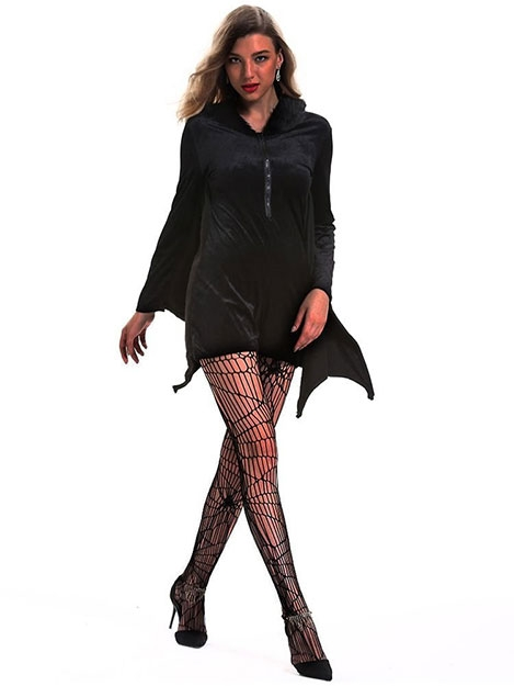 JurllyShe Plus Size Halloween Cosplay Bat Costume Sexy Vampire Rompers