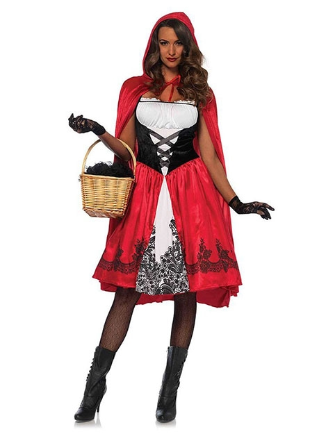 JurllyShe Plus Size Halloween Cosplay Little Red Riding Hood Costume Dress