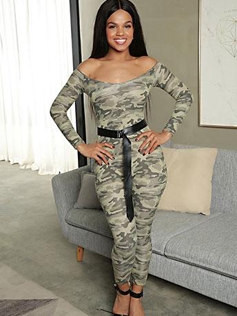 Camouflage Off The Shoulder Belt Jumpsuit