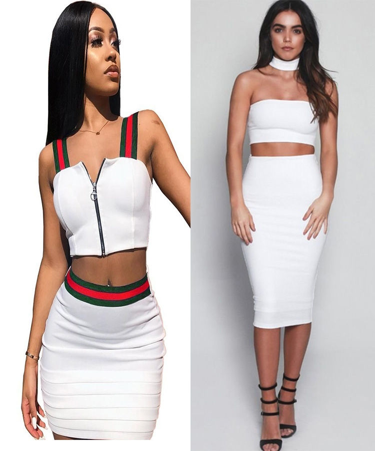 Two piece top and skirts