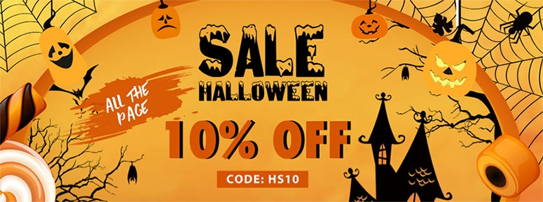 10% off for halloween costumes
