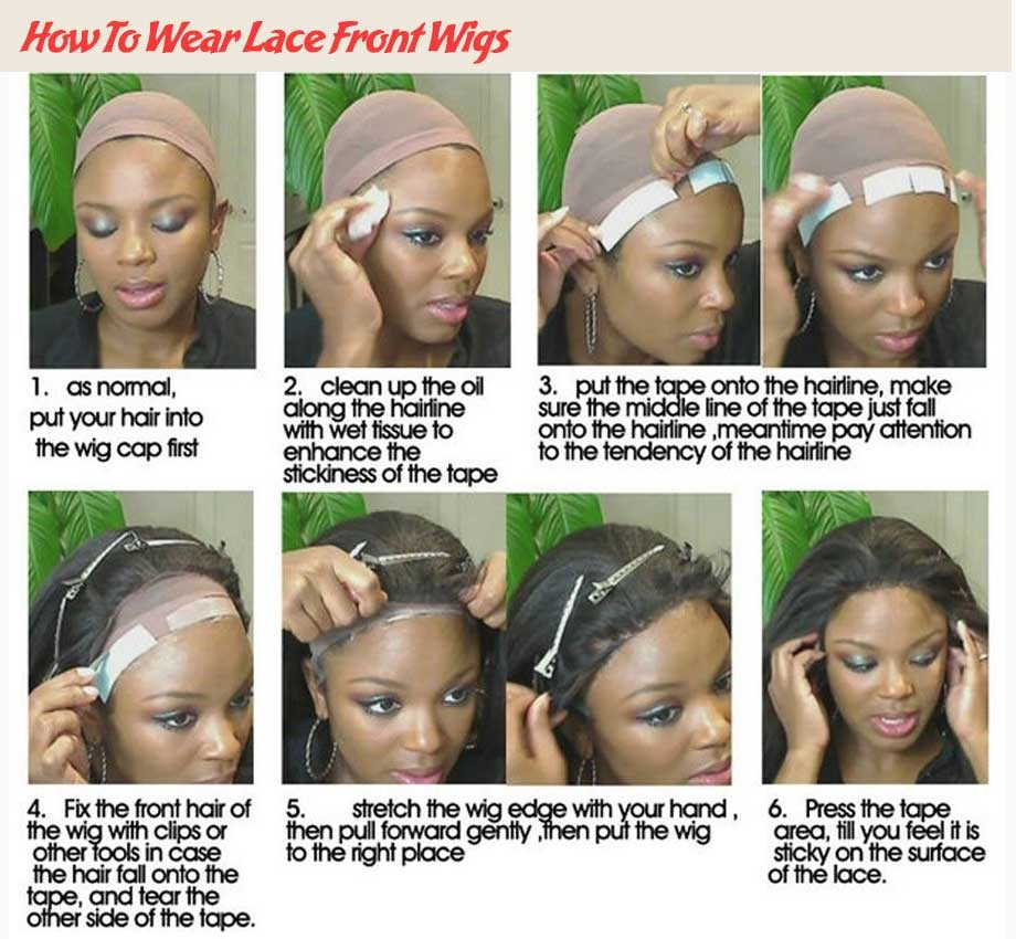 how to wear lace front human hair wigs